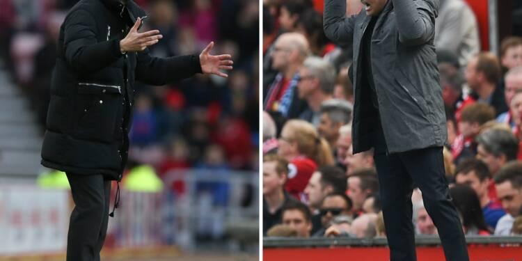 "Manchetser United-Manchester City: Mourinho contre Guardiola, les ""jumeaux"" s'opposent"