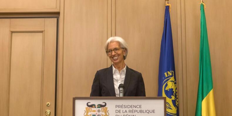 Christine Lagarde en visite au Bénin, prévoit une croissance de 6%