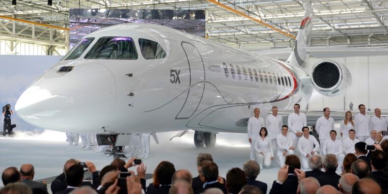 Dassault: 41 commandes de Falcon en 2017, 9 Rafale livrés