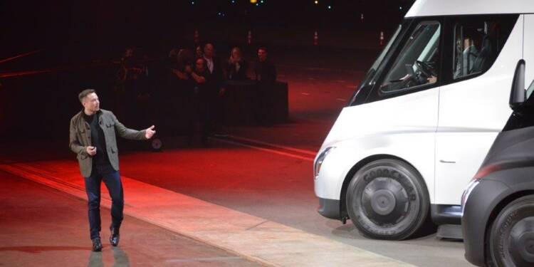 UPS commande 125 camions électriques Tesla