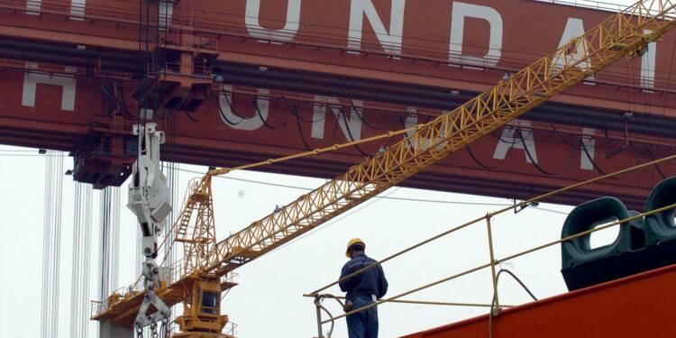Chantier naval: les résultats de Hyundai vont s'effondrer, le titre décroche