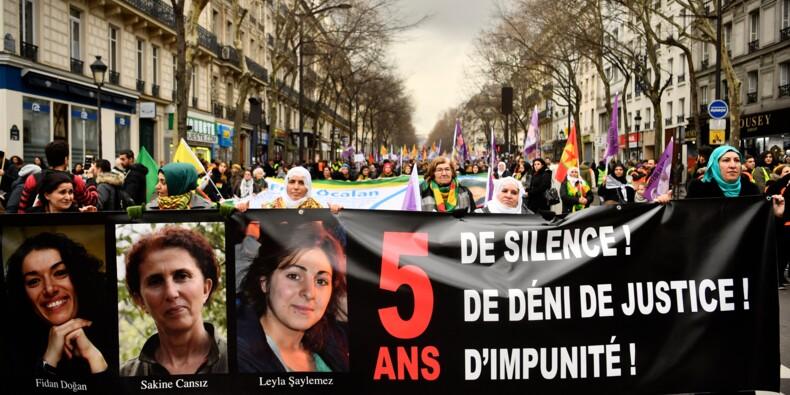 Des milliers de Kurdes réclament justice pour les militantes tuées à Paris