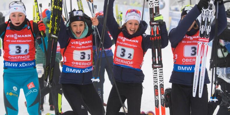 Biathlon: les Bleues matent les Allemandes sur leurs terres