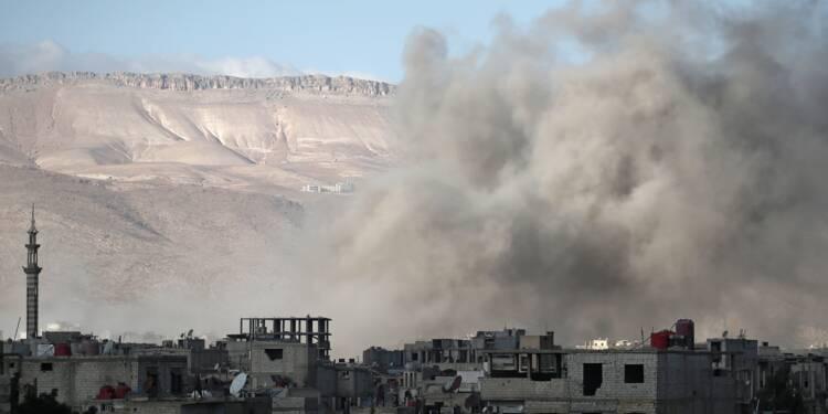 """La Ghouta orientale, """"talon d'Achille"""" du régime syrien, dans le viseur de Damas"""