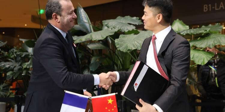 Le géant de l'e-commerce JD.com promet de vendre 2 mds EUR de produits français en Chine