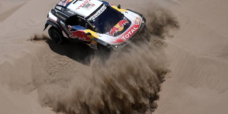 Dakar: abandon du Français Sébastien Loeb (Peugeot)