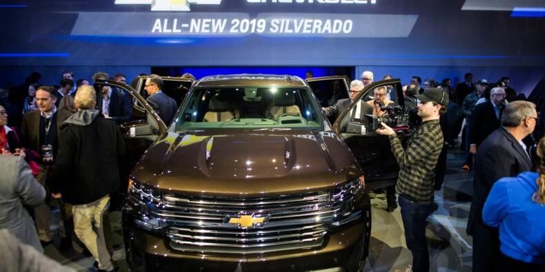 """Pick-up, SUV... les """"grosses bagnoles"""" en vedette du Salon automobile de Detroit"""