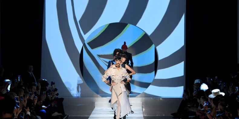 Haute couture: le défilé hommage de Jean Paul Gaultier à Pierre Cardin