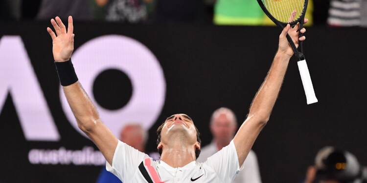 Open d'Australie: Roger Federer fait monter son record à 20 titres du Grand Chelem