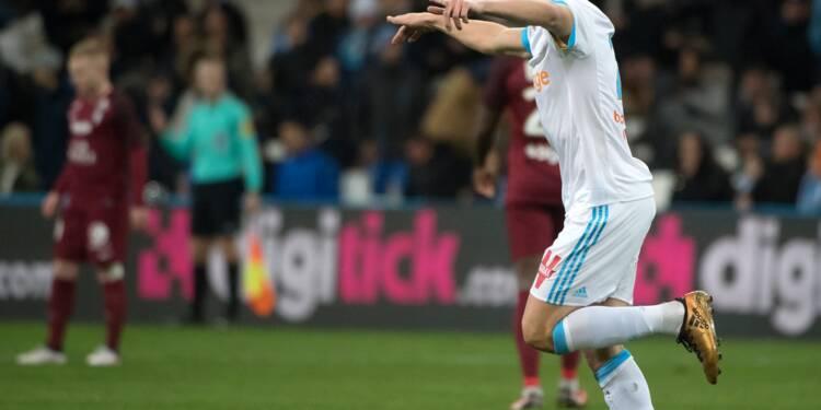 Marseille bat Metz 6-3 et reprend la deuxième place de Ligue 1