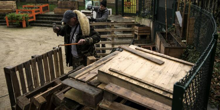 A Paris, un retour à l'emploi en douceur pour des SDF
