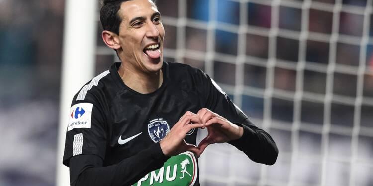 Coupe de France: un triplé de Di Maria envoie le PSG en quarts