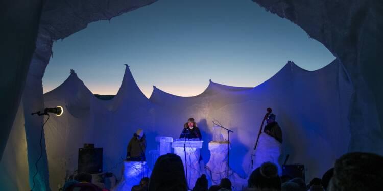 Norvège: un festival de musique dans un igloo avec des instruments en glace