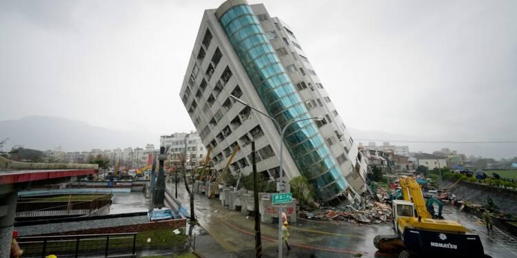 Taïwan: un séisme renverse des immeubles, au moins 7 morts
