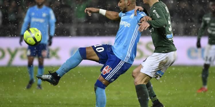 Marseille, tenu en échec à Saint-Etienne 2-2, reste 2e de L1 derrière le PSG