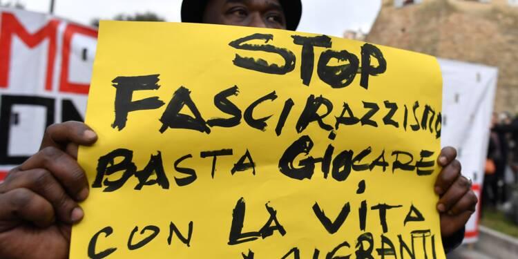 Italie: des milliers de manifestants antifascistes à Macerata