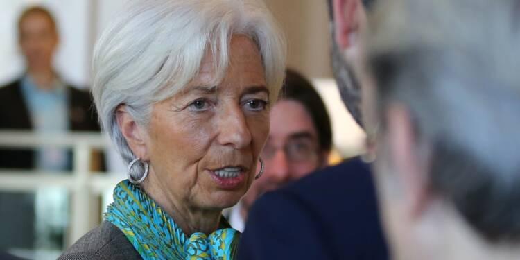 """Pour Lagarde (FMI), les récents reculs boursiers sont des """"corrections nécessaires"""""""
