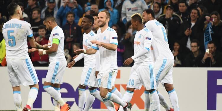 Europa League: l'OM s'amuse, Nice se rate, l'OL se rassure en 16e de finales aller