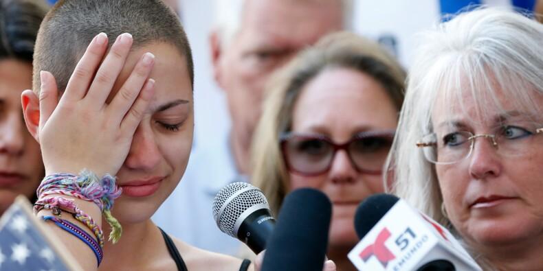 """""""Honte à vous"""": une lycéenne dénonce le silence de Trump sur les armes"""