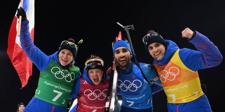 JO-2018: le relais mixte français sacré en biathlon, record pour Fourcade