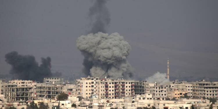 Syrie: quatrième jour de raids meurtriers sur un fief rebelle près de Damas