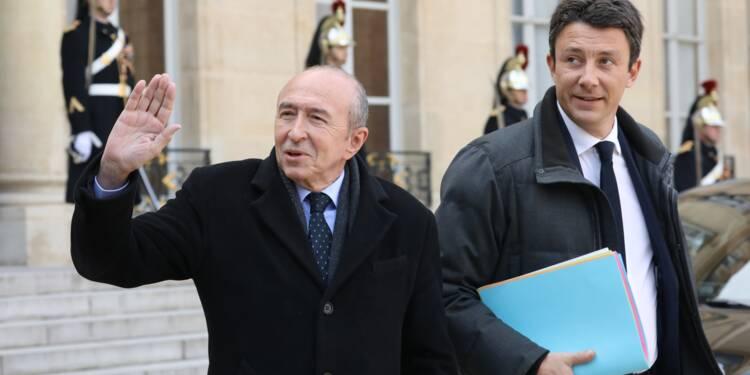 """Loi asile-immigration: Collomb défend un texte """"totalement équilibré"""" qui """"s'aligne sur le droit européen"""""""