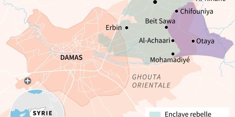 Syrie: neuf civils tués dans de nouveaux raids sur la Ghouta, selon l'OSDH