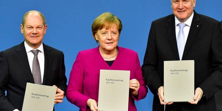En Allemagne, Merkel entame un quatrième mandat dans la douleur