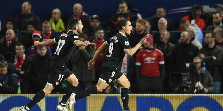 Ligue des champions: Séville envoie Manchester United dans le décor, la Roma en quarts