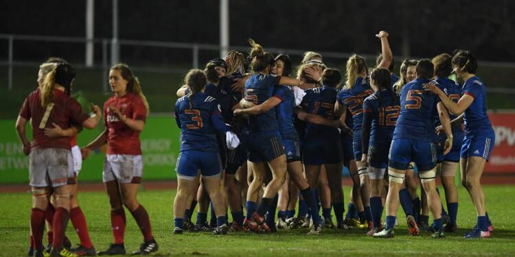 Tournoi: le XV de France réussit le Grand Chelem féminin des six nations