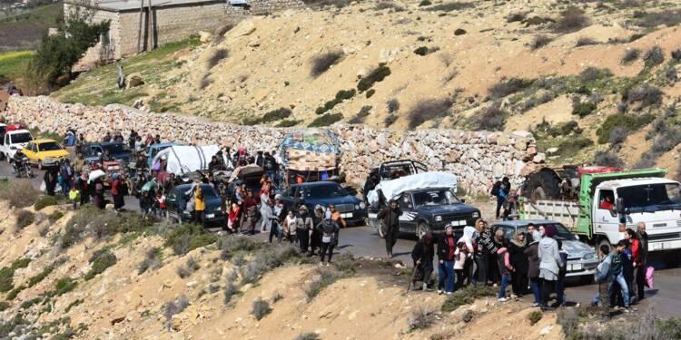 Syrie: plus de 150.000 civils ont fui la ville d'Afrine depuis mercredi soir (OSDH)