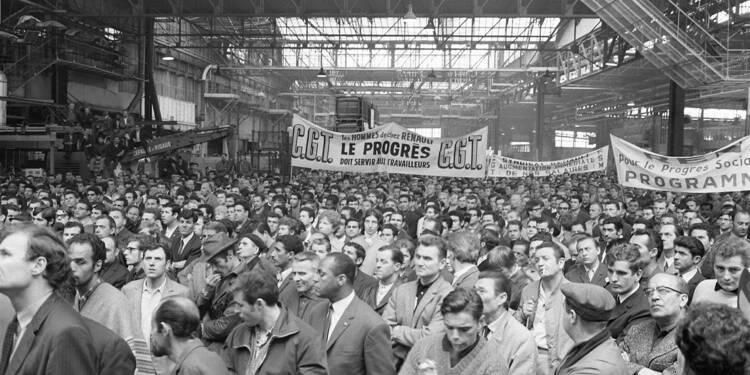 """Mai 68 vu par l'AFP - Devant l'usine : """"votre programme, c'est pas exaltant"""""""