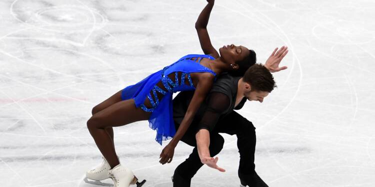 Patinage: premier podium mondial pour le couple James-Ciprès, en bronze