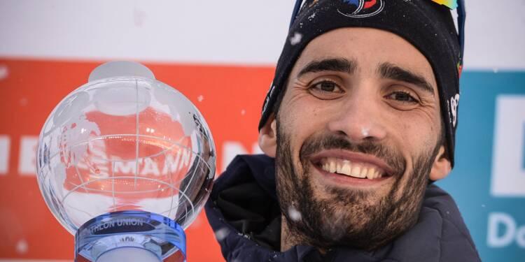 """Biathlon: Fourcade repart """"pour deux ans a minima"""""""