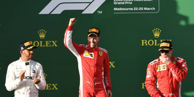 GP d'Australie: victoire de Vettel (Ferrari) devant Hamilton (Mercedes)
