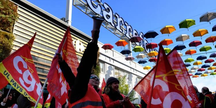 """Carrefour: une grève exceptionnelle face aux """"attaques"""" de la direction"""