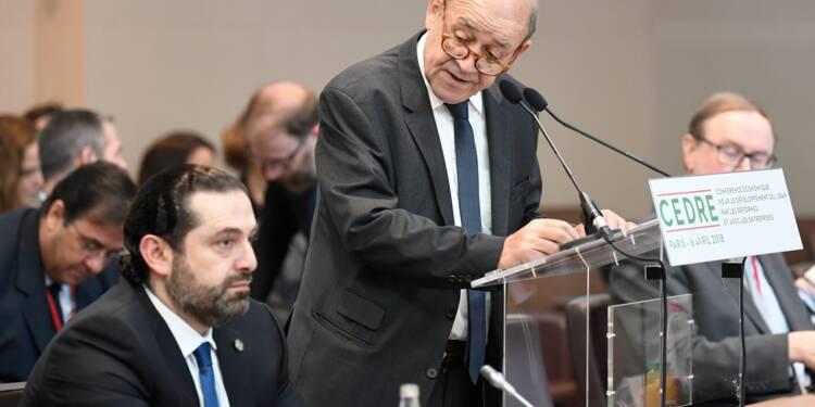 La France va accorder 550 millions d'euros de dons et prêts à taux bonifiés au Liban (ministre)