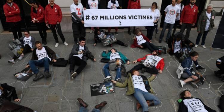 Attac repasse à l'action contre Apple à Aix-en-Provence, pour dénoncer l'évasion fiscale