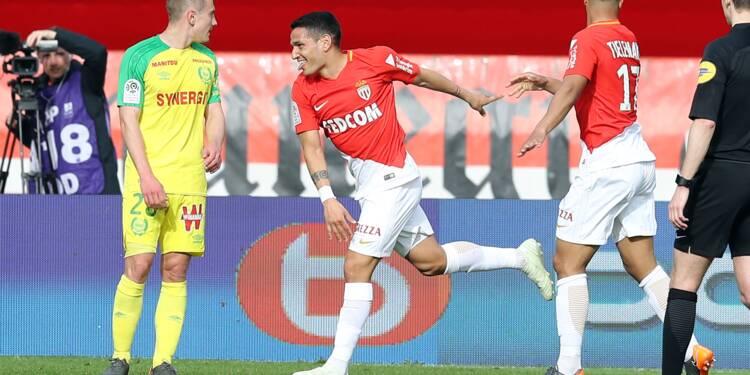 Ligue 1: Monaco éloigne ses concurrents, et Nantes de l'Europe