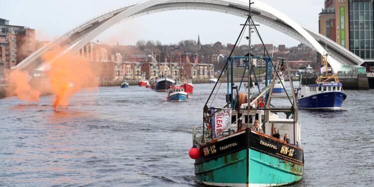 Royaume-Uni: manifestation de pêcheurs, inquiets de l'après-Brexit