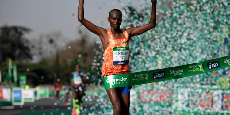 Marathon de Paris: le Kényan Paul Lonyangata conserve son titre