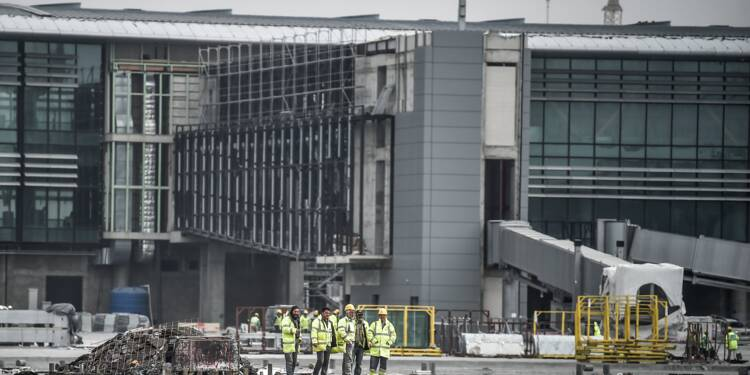 Turquie: le nouvel aéroport d'Istanbul, symbole des ambitions d'Erdogan, prend forme