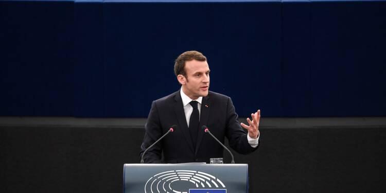 """Macron propose """"un programme européen"""" pour financer les collectivités accueillant des réfugiés"""
