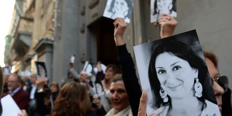 """Malte: des manifestants réclament """"justice"""" pour Daphne Garuana Galizia"""