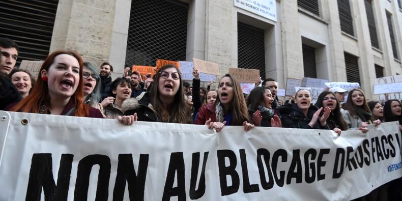 Universités: les anti-blocage essayent de se faire entendre