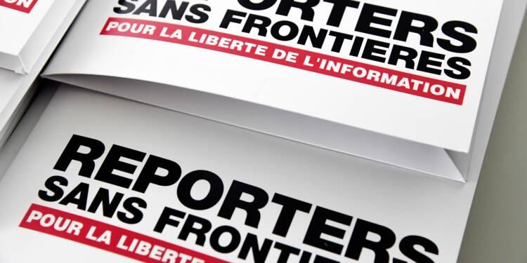 RSF s'inquiète pour la liberté de la presse dans les démocraties