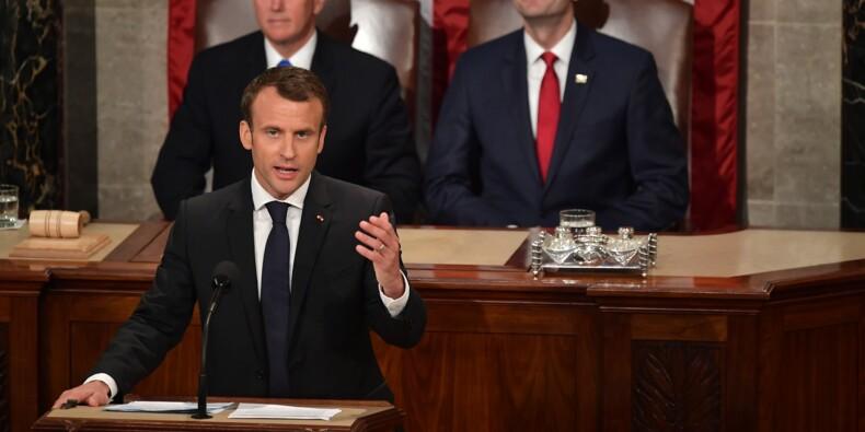 Macron chaudement reçu au Congrès américain pour exposer sa vision du monde