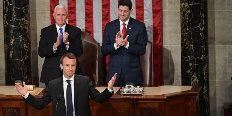 """Au Congrès, la réponse de Macron à """"l'Amérique d'abord"""""""