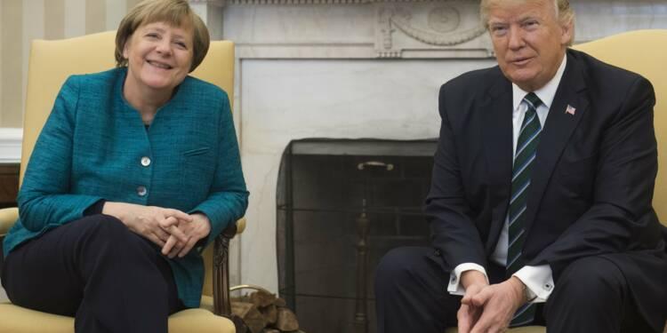 Trump félicite Merkel mais ne lâche rien, de l'Iran au commerce