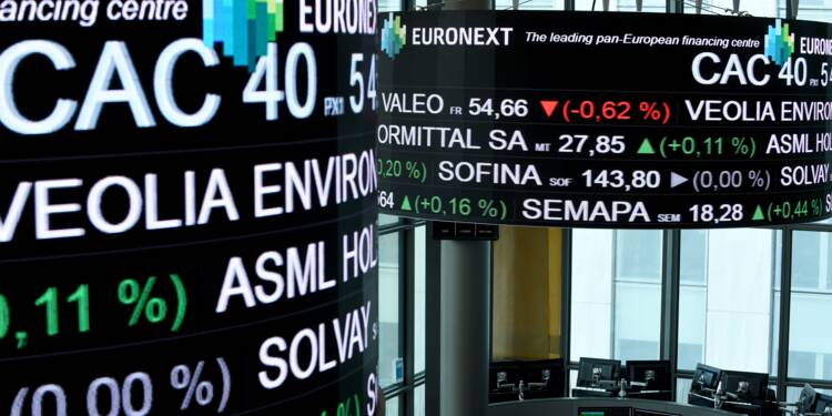La Bourse de Paris regagnée par les craintes concernant la croissance